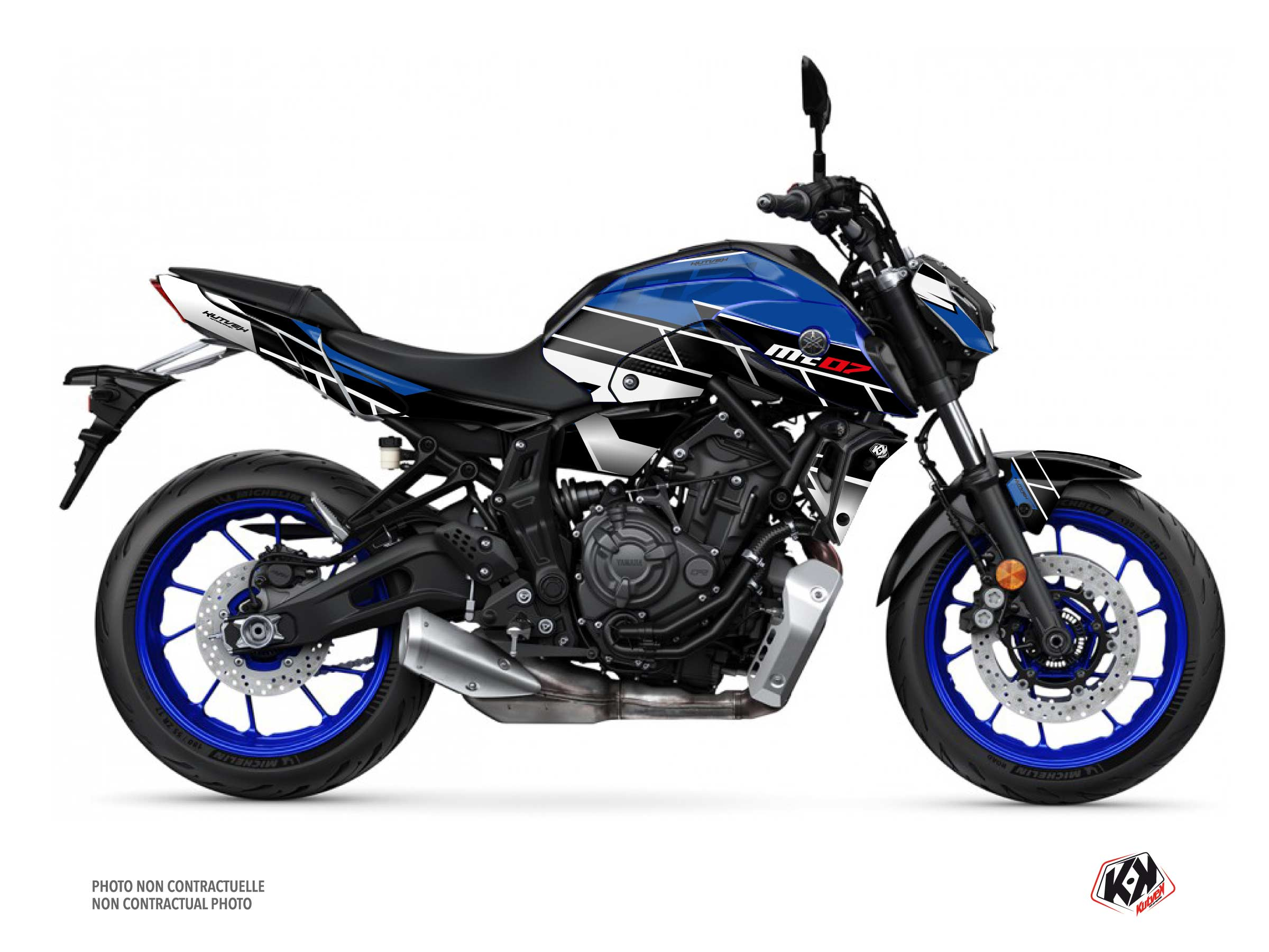 Yamaha MT 07 Street Bike Conquer Graphic Kit Blue