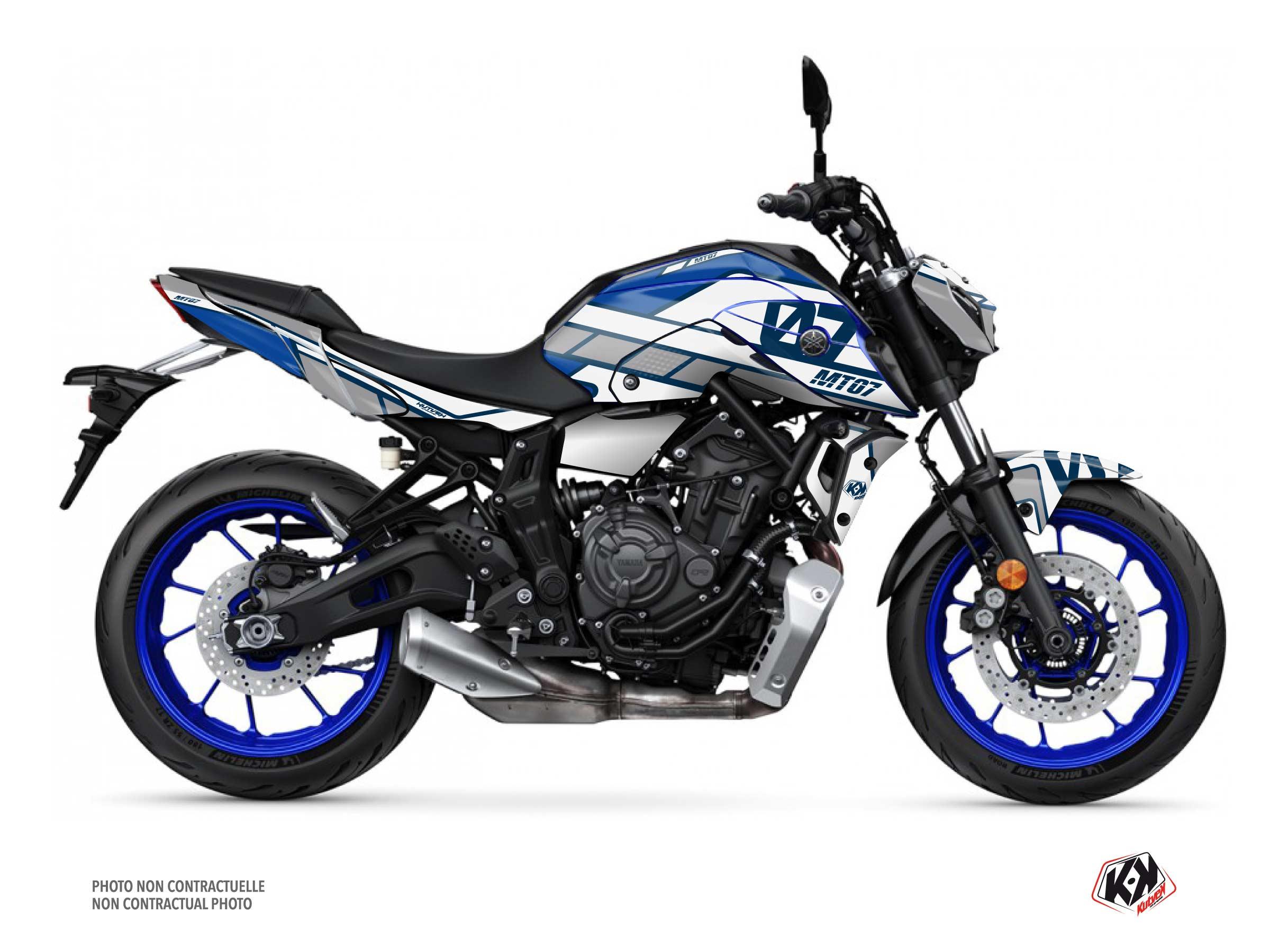 Kit Déco Moto Player Yamaha MT 07 Bleu