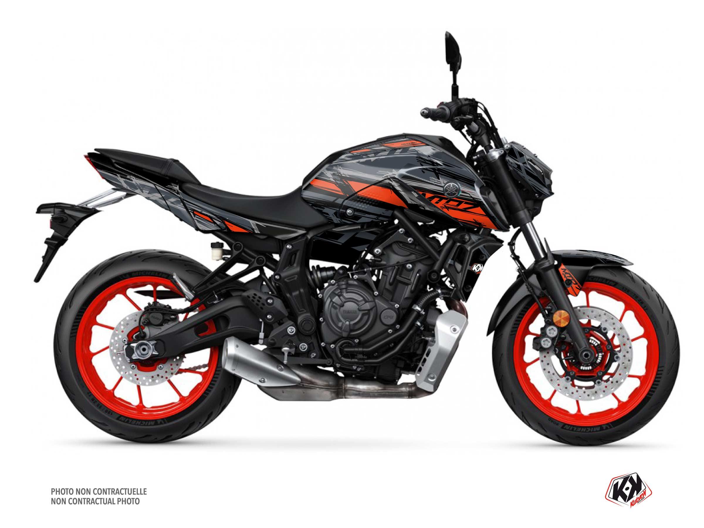 Kit Déco Moto Channel Yamaha MT 07 Gris