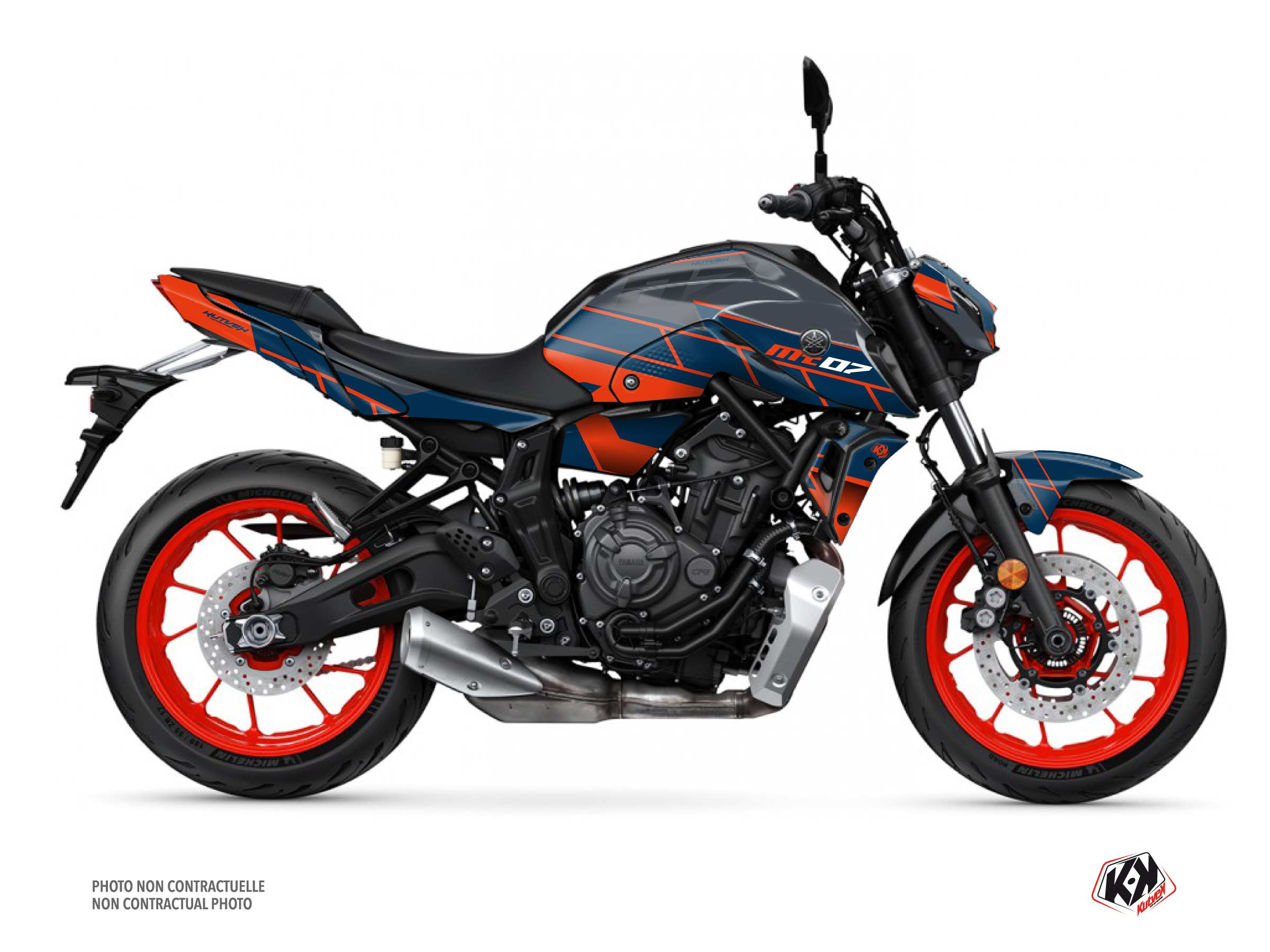 Yamaha MT 07 Street Bike Conquer Graphic Kit Grey