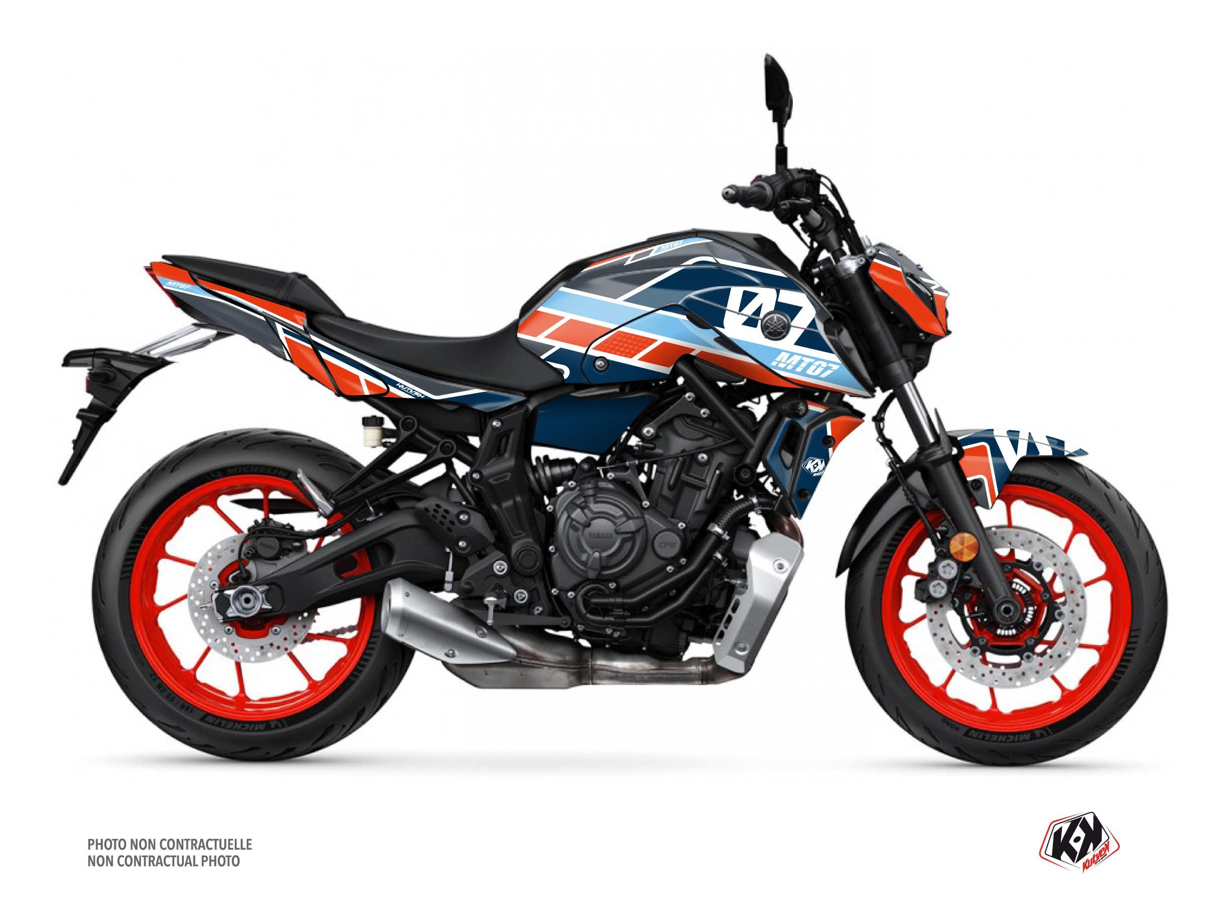 Kit Déco Moto Player Yamaha MT 07 Gris