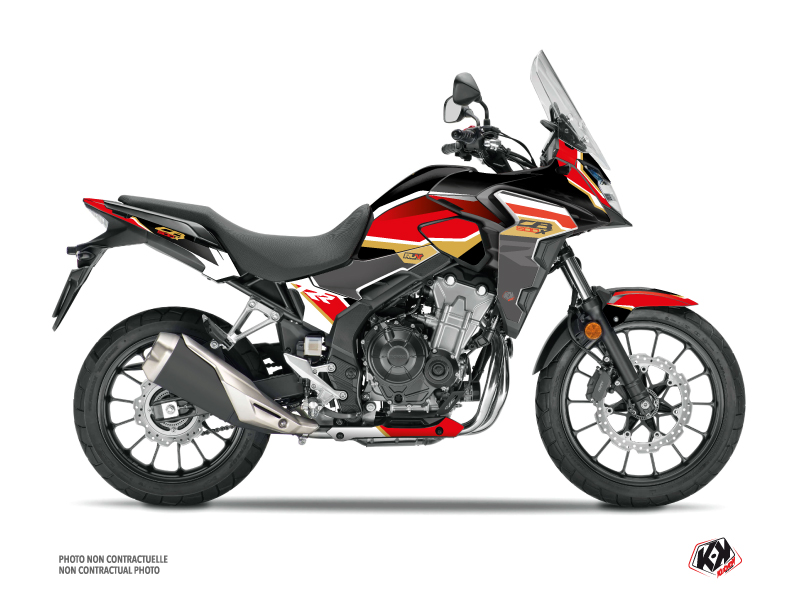 Honda CB 500 X Street Bike Run Graphic Kit Black