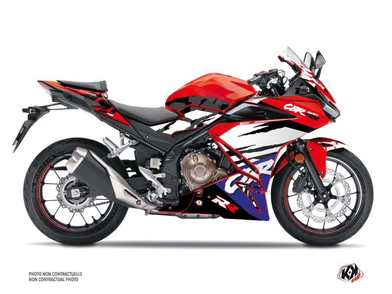 Honda CBR 500 R Street Bike Nineties Graphic Kit Red