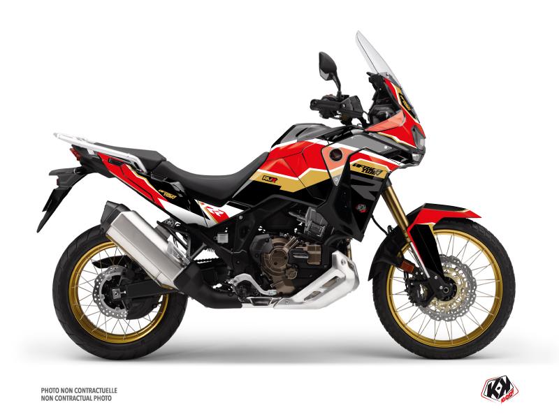 Kit Déco Moto Run Honda Africa twin Adventure Sport Noir