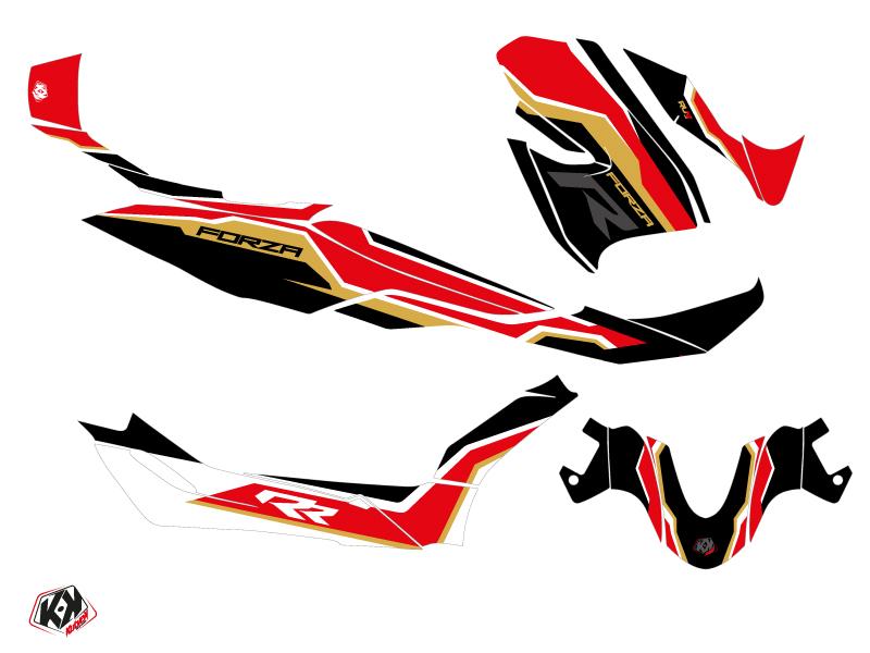 Honda Forza 300 Maxiscooter Run Graphic Kit Black