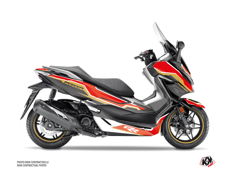 Honda Forza 300 Maxiscooter Run Graphic Kit Black