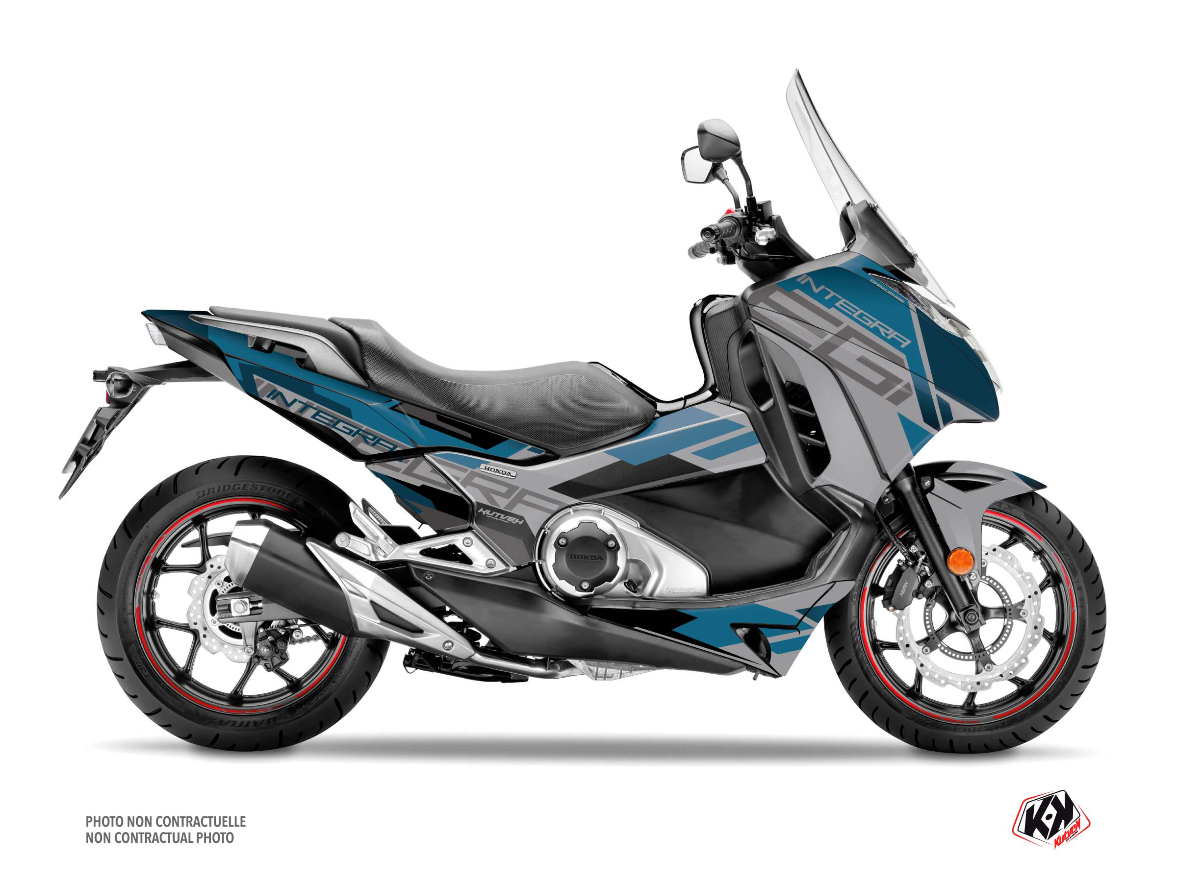 Honda Integra 750 Maxiscooter Challenge Graphic Kit Grey