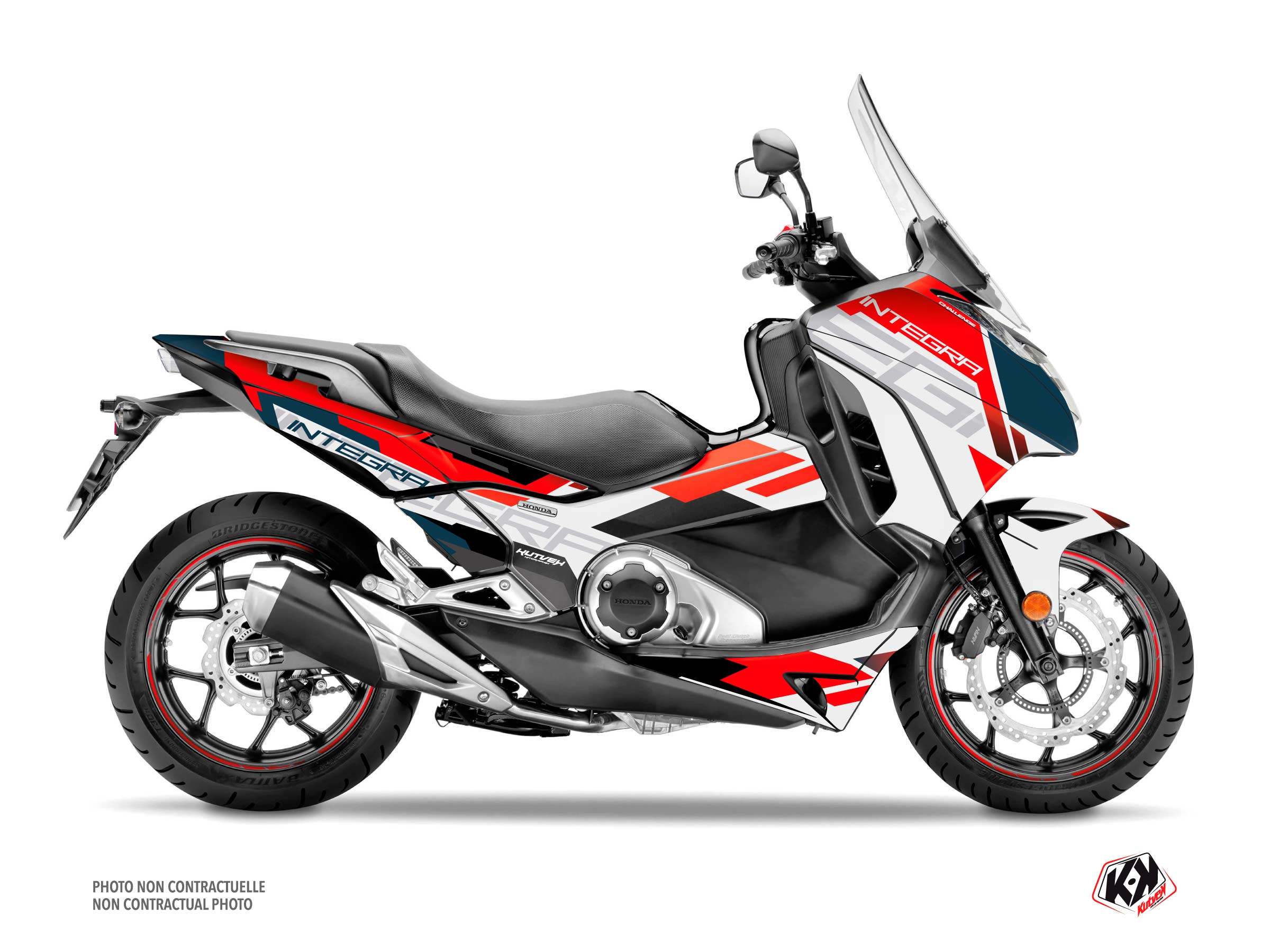 Honda Integra 750 Maxiscooter Challenge Graphic Kit White