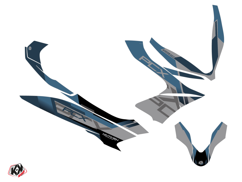 Honda PCX 125 Maxiscooter Challenge Graphic Kit Grey