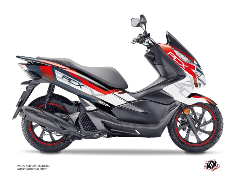 Honda PCX 125 Maxiscooter Challenge Graphic Kit White