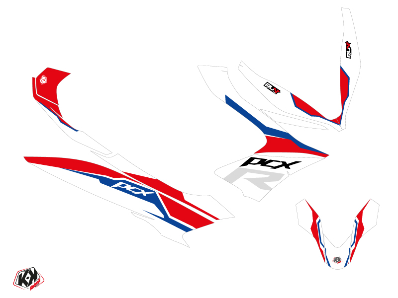 Honda PCX 125 Maxiscooter Run Graphic Kit White