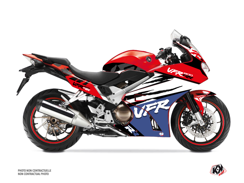 Kit Déco Moto Nineties Honda VFR 800 Rouge
