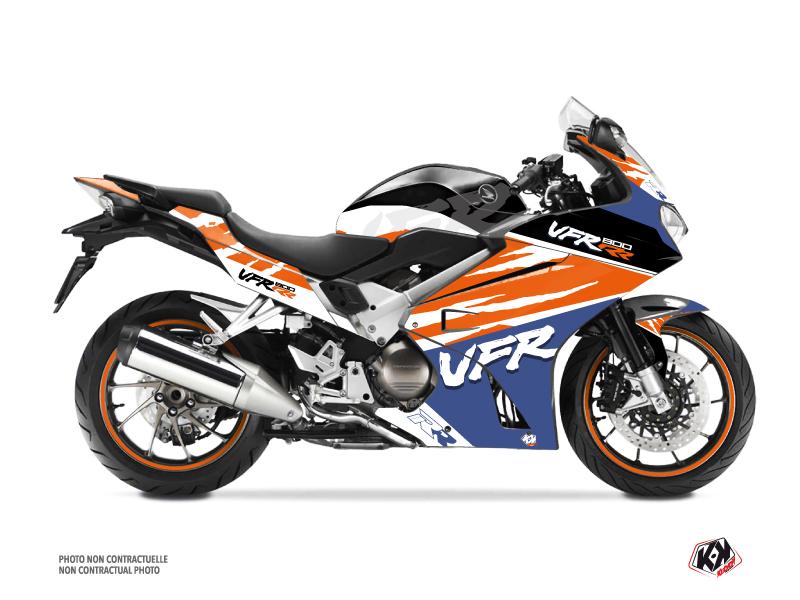 Kit Déco Moto Nineties Honda VFR 800 Blanc