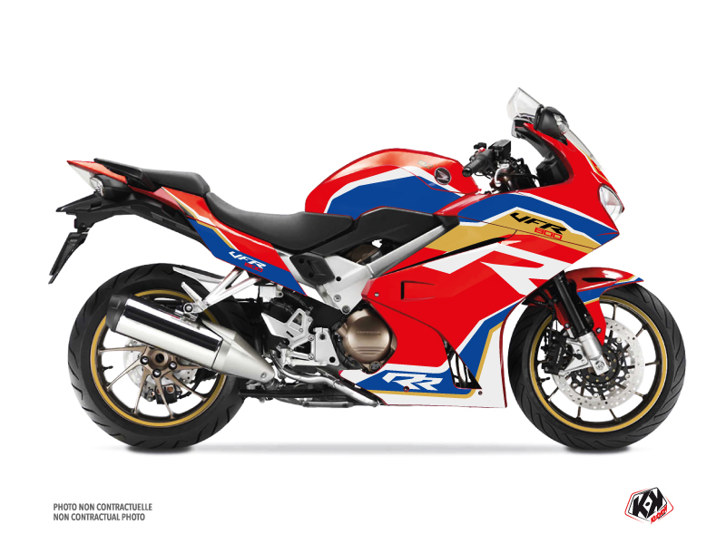 Honda VFR 800 Street Bike Run Graphic Kit Red