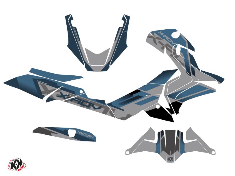 Honda X-ADV Maxiscooter Challenge Graphic Kit Grey