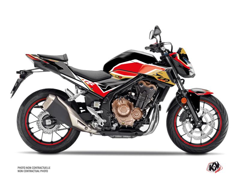 Honda CB 500 F Street Bike Run Graphic Kit Black