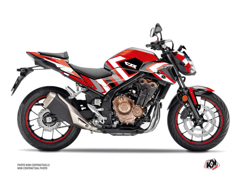 Honda CB 500 F Street Bike Square Graphic Kit Red