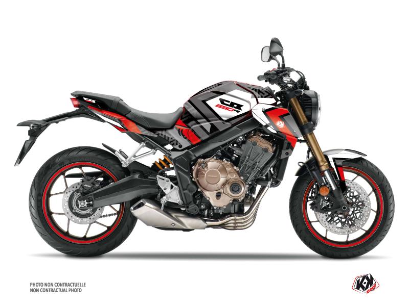 Honda CB 650 R Street Bike Square Graphic Kit Black