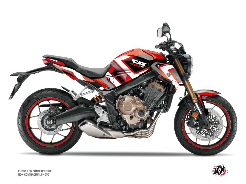 Honda CB 650 R Street Bike Square Graphic Kit Red