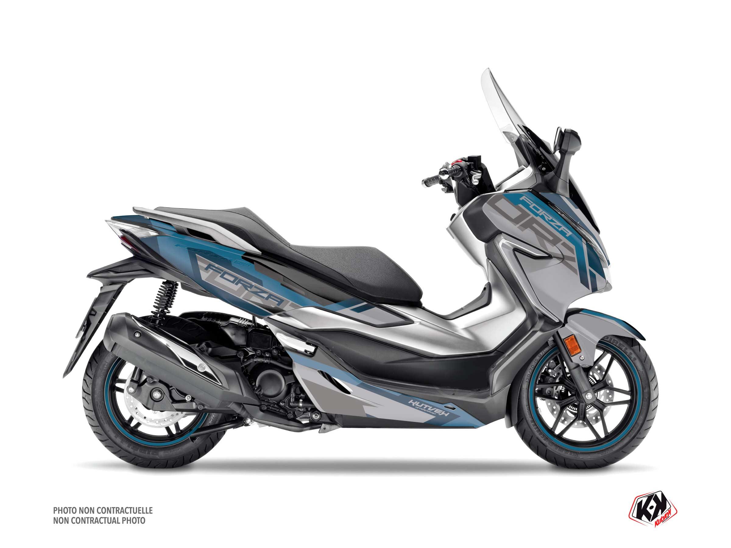 Honda Forza 125 Maxiscooter Challenge Graphic Kit Grey