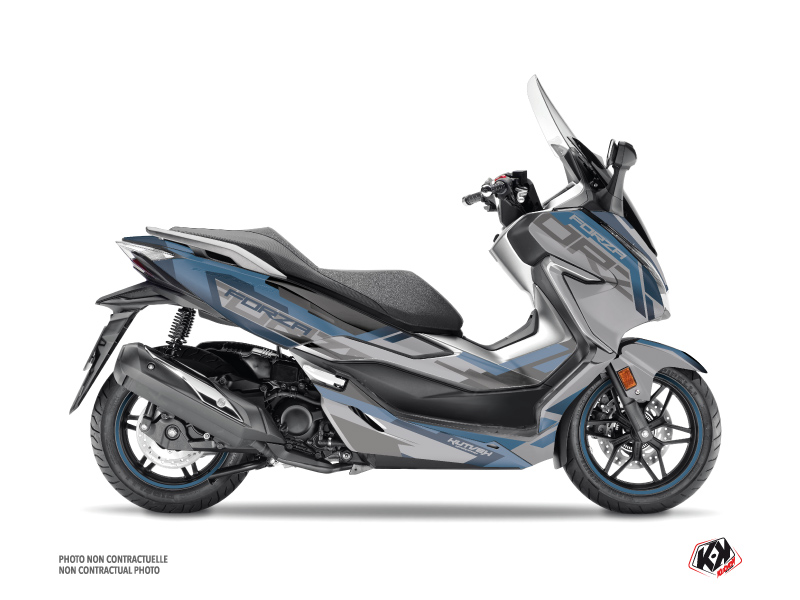Honda Forza 300 Maxiscooter Challenge Graphic Kit Grey