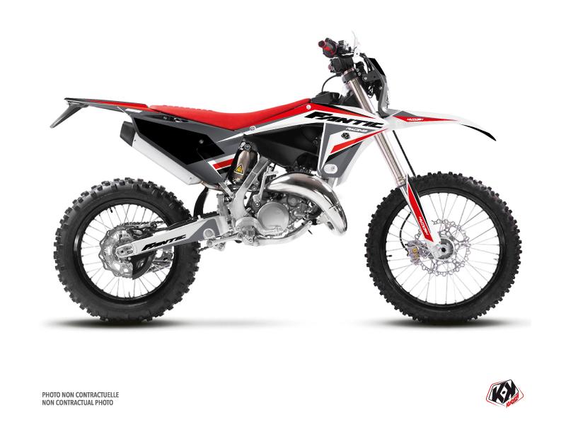 Fantic 125 XE Dirt Bike Mantova Graphic Kit Black