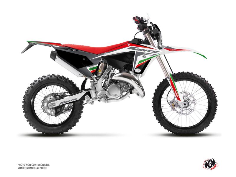 Fantic 125 XE Dirt Bike Mantova Graphic Kit Green