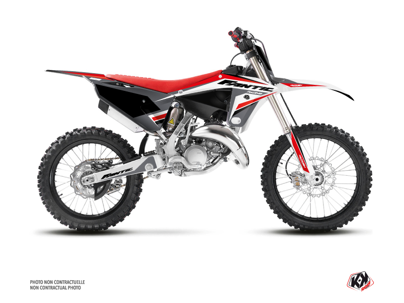 Fantic 125 XX Dirt Bike Mantova Graphic Kit Black