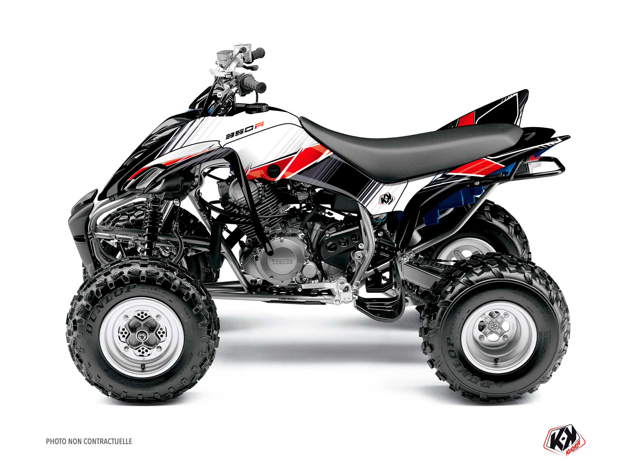 Yamaha 350 Raptor ATV Stripe Graphic Kit Red