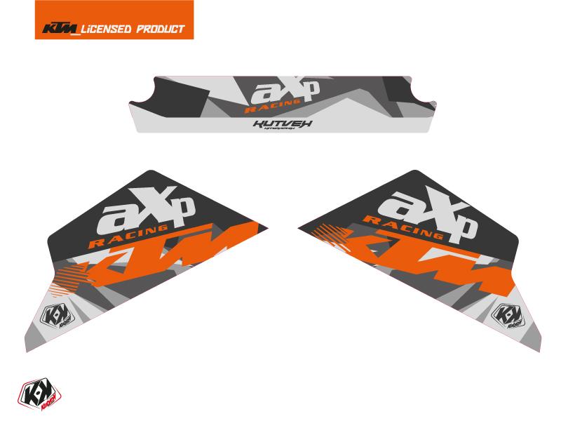 Graphic Kit AXP Skid Plates Moto Delta KTM 790-890 Adventure Grey Orange