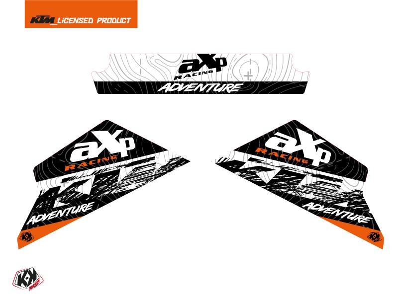 Graphic Kit AXP Skid Plates Moto Gear KTM 790-890 Adventure White