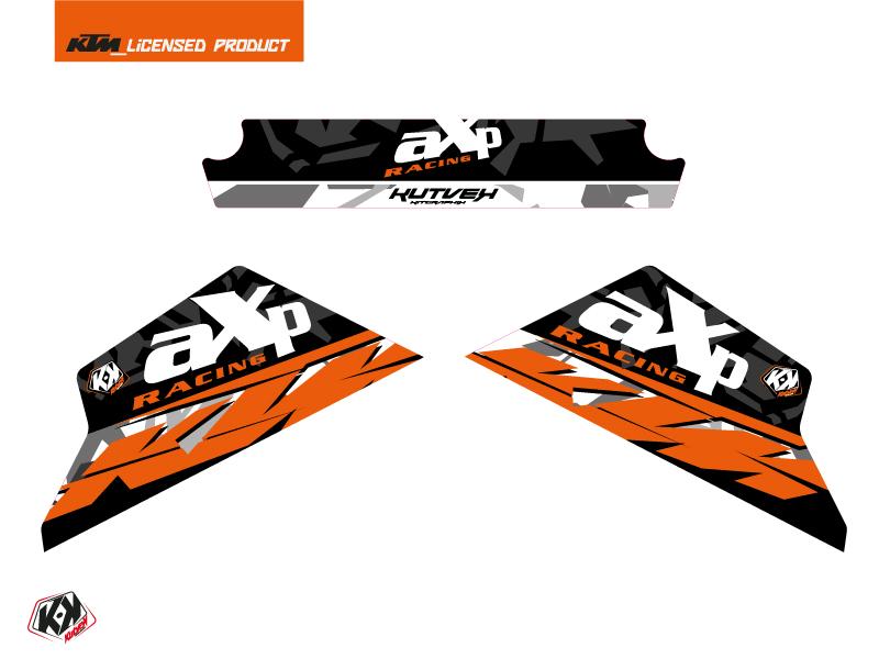 Graphic Kit AXP Skid Plates Moto Kombat KTM 790-890 Adventure Grey Orange