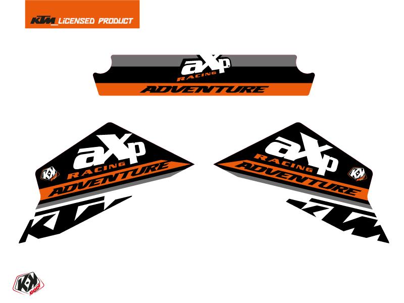Graphic Kit AXP Skid Plates Moto Kontrol KTM 790-890 Adventure Orange