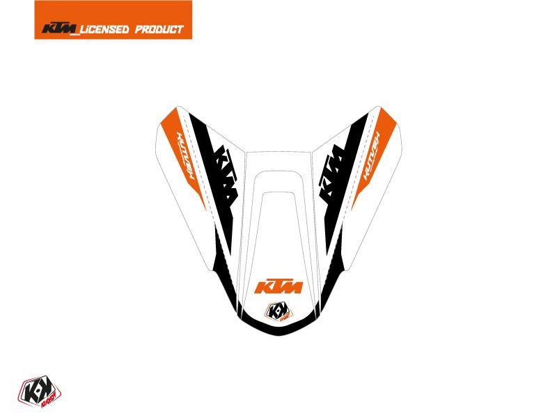 Kit Déco Capot de Selle Moto Arkade KTM Orange Blanc