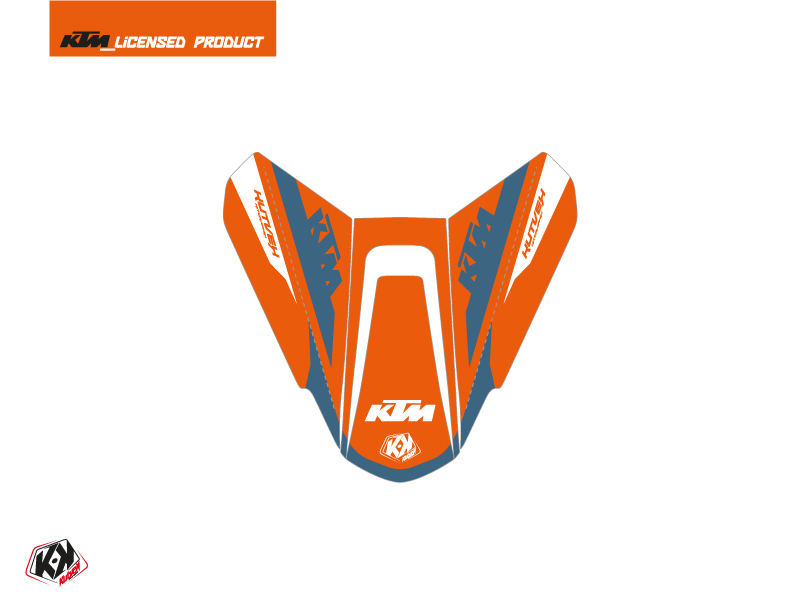 Kit Déco Capot de Selle Moto Arkade KTM Orange Bleu
