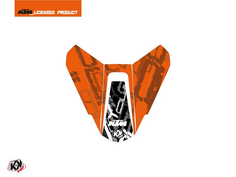 Kit Déco Capot de Selle Moto Krav KTM Noir Orange