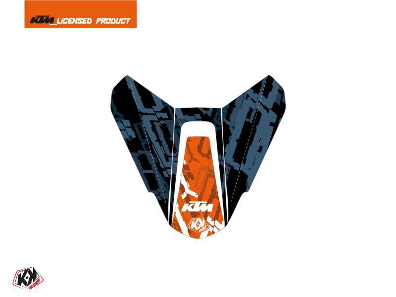 Kit Déco Capot de Selle Moto Krav KTM Orange Bleu