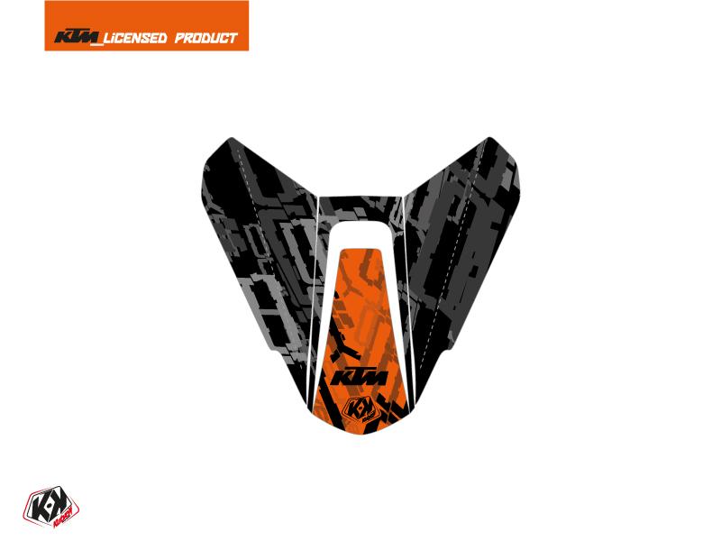 Kit Déco Capot de Selle Moto Krav KTM Orange Noir
