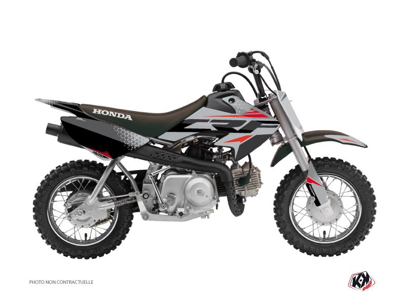 Honda 50 CRF Dirt Bike Nasting Graphic Kit Grey Red