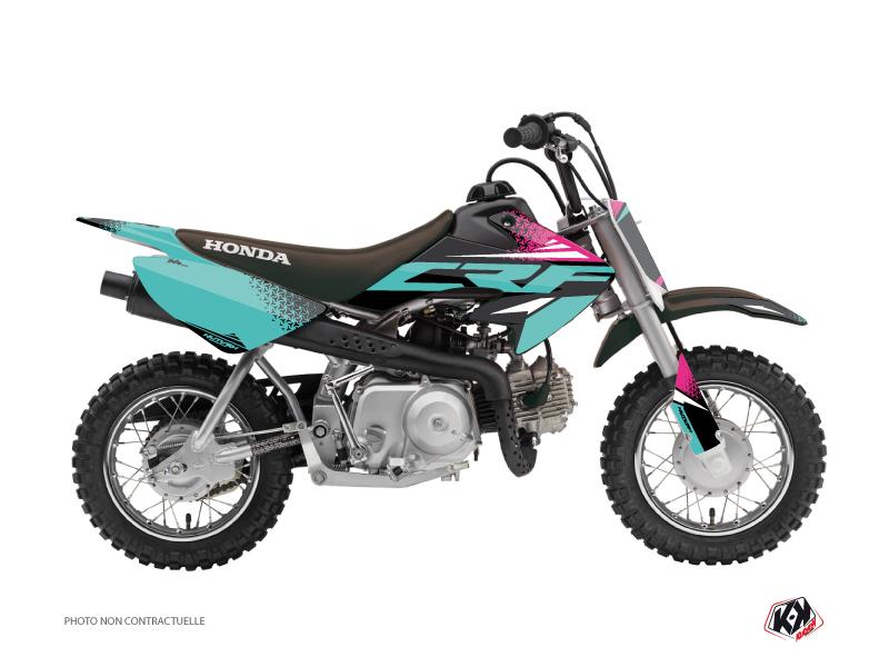 Honda 50 CRF Dirt Bike Nasting Graphic Kit Turquoise