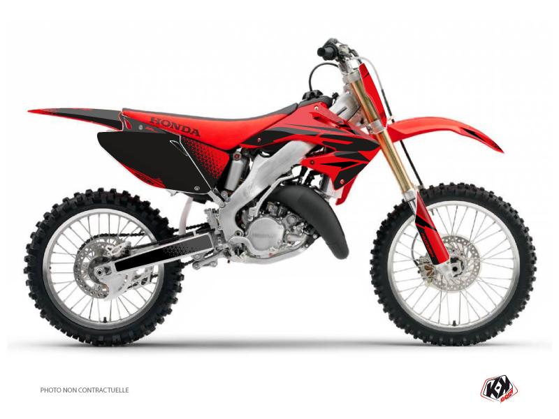 Honda 125 CR Dirt Bike Nasting Graphic Kit Red Black