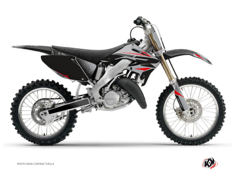 Honda 250 CR Dirt Bike Nasting Graphic Kit Grey Red