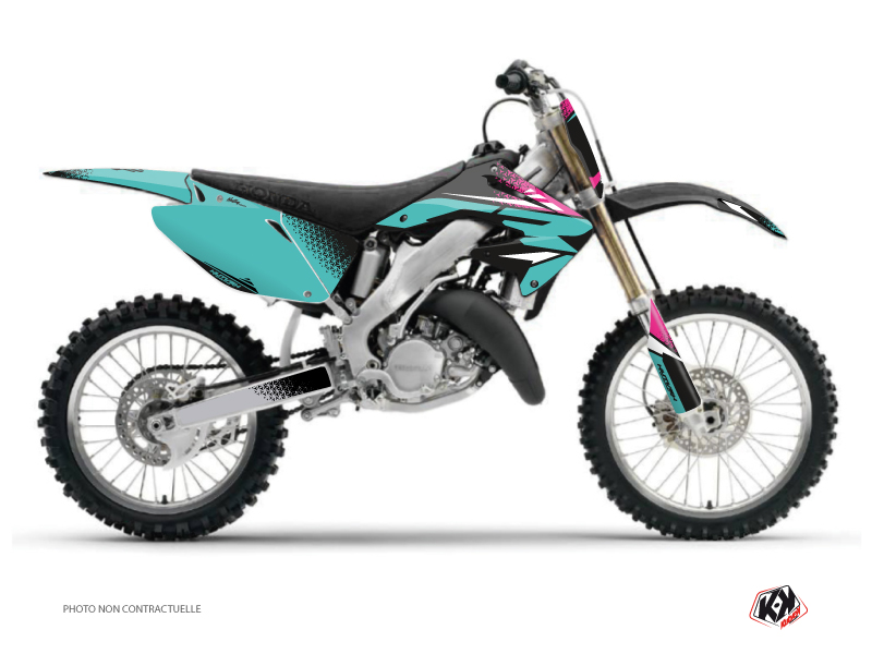 Honda 250 CR Dirt Bike Nasting Graphic Kit Turquoise