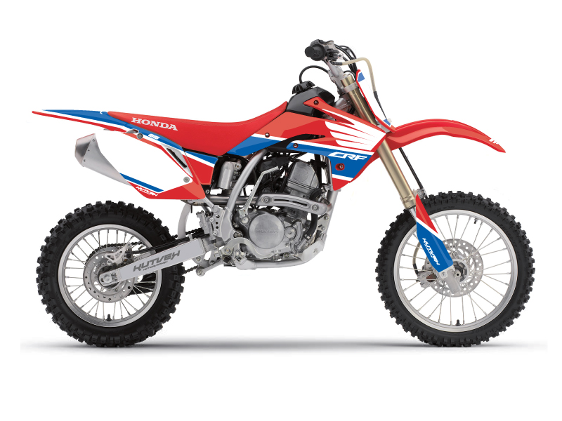 Honda 150 CRF Dirt Bike Wing Graphic Kit Blue