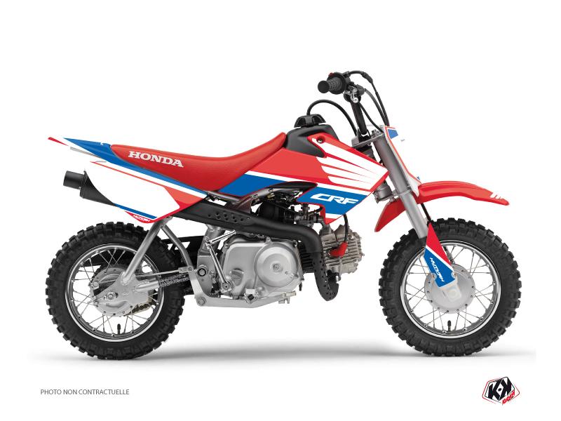 Honda 50 CRF Dirt Bike Wing Graphic Kit Blue