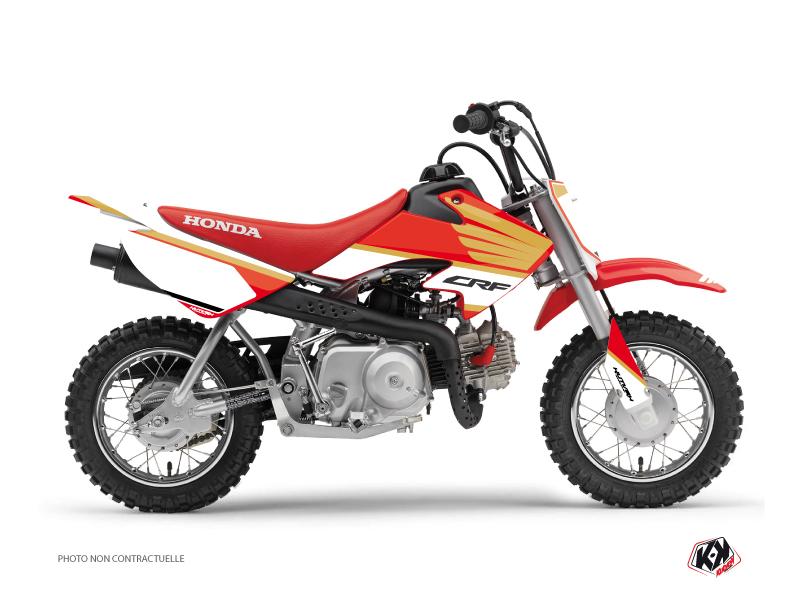 Honda 50 CRF Dirt Bike Wing Graphic Kit White