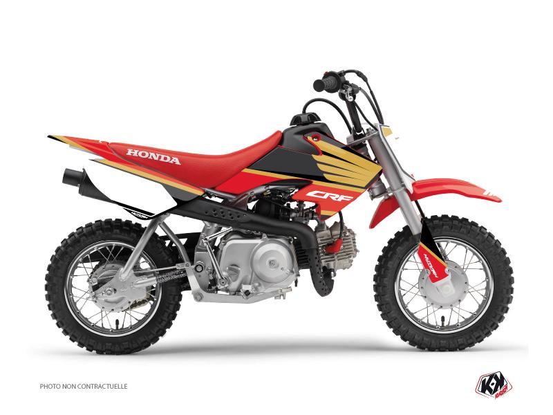 Honda 50 CRF Dirt Bike Wing Graphic Kit Gold