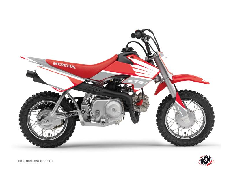 Honda 50 CRF Dirt Bike Wing Graphic Kit Grey