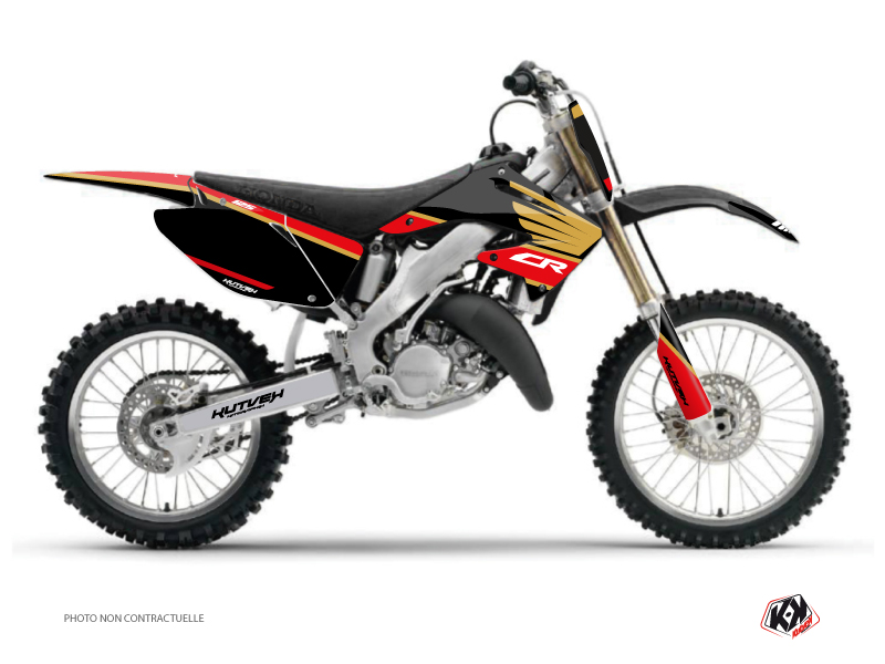 Honda 125 CR Dirt Bike Wing Graphic Kit Gold