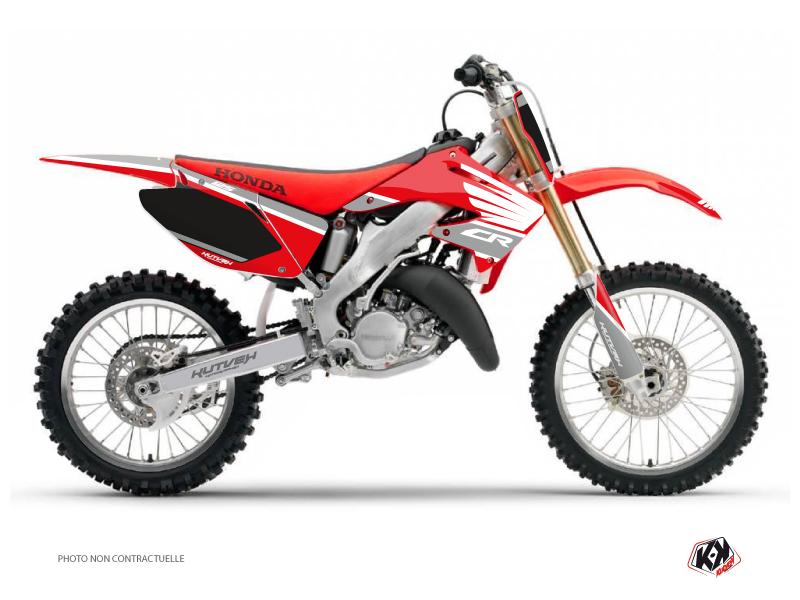 Honda 125 CR Dirt Bike Wing Graphic Kit Grey